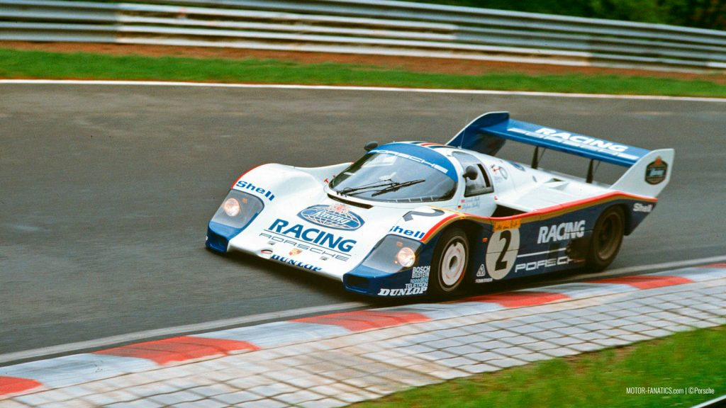Stefan Bellof in his Porsche 956 at Nurburgring
