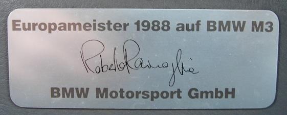 1988 BMW E30 M3 Europameister Special Edition